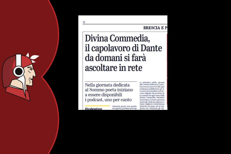 Divina Commedia, il capolavoro di Dante da domani si farà ascoltare in rete