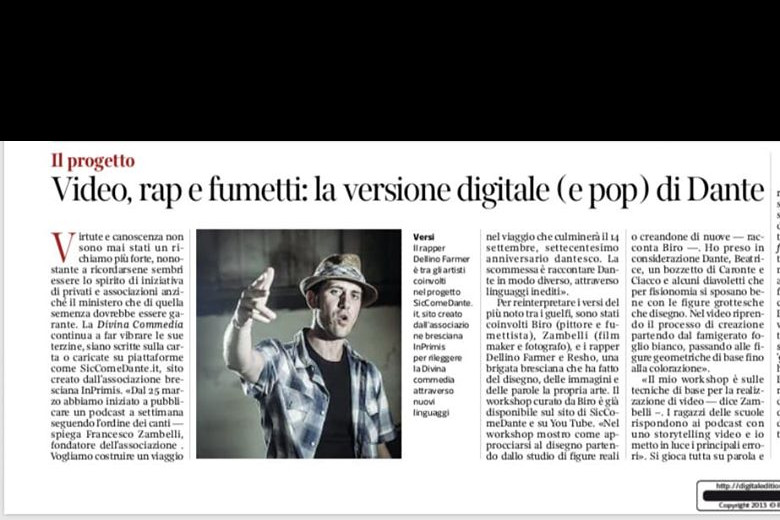 Video, rap e fumetti: la versione digitale (e pop) di Dante