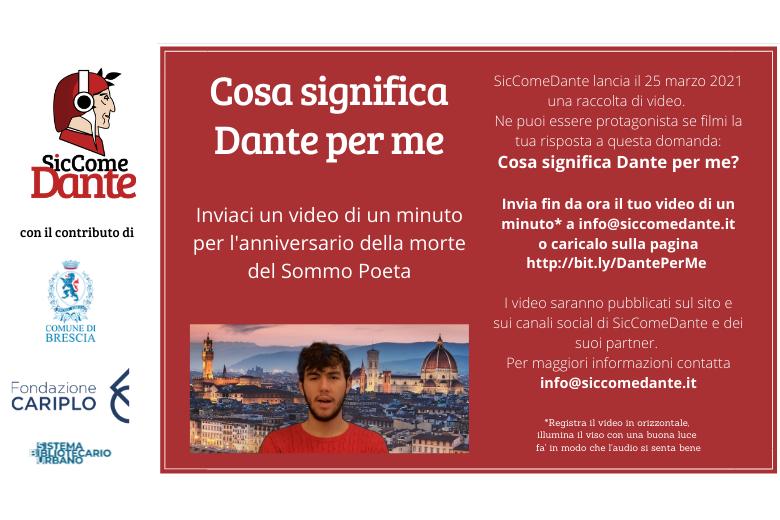 Cosa significa Dante per me?