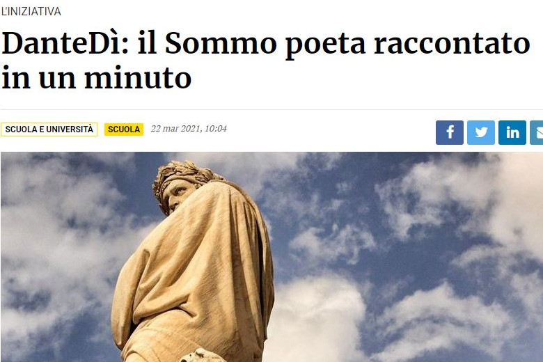 """Il Giornale di Brescia presenta """"Cosa significa Dante per me?"""""""