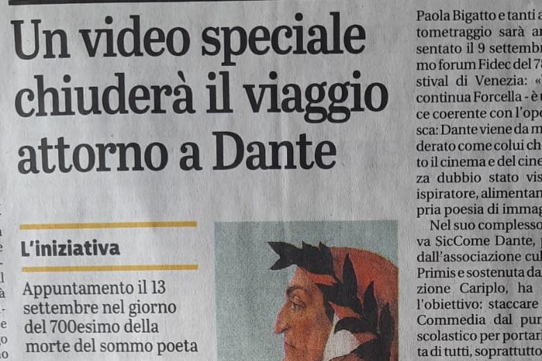 L'evento finale di SicComeDante sul Giornale di Brescia
