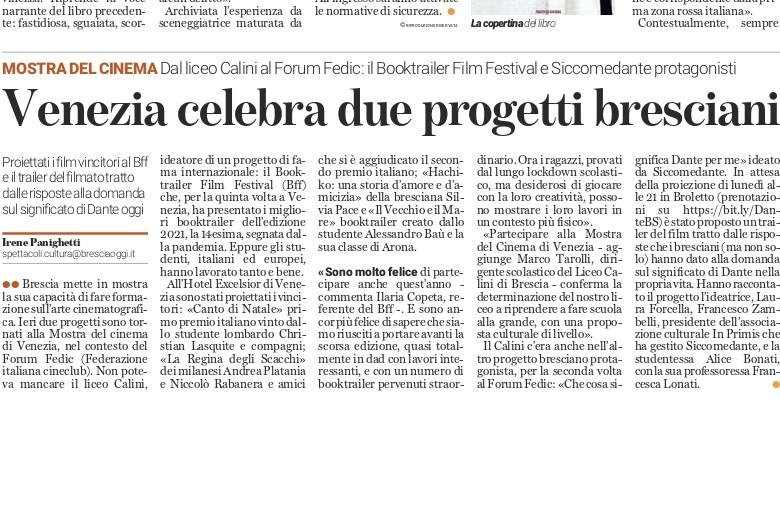 SicComeDante a Venezia raccontato da Bresciaoggi